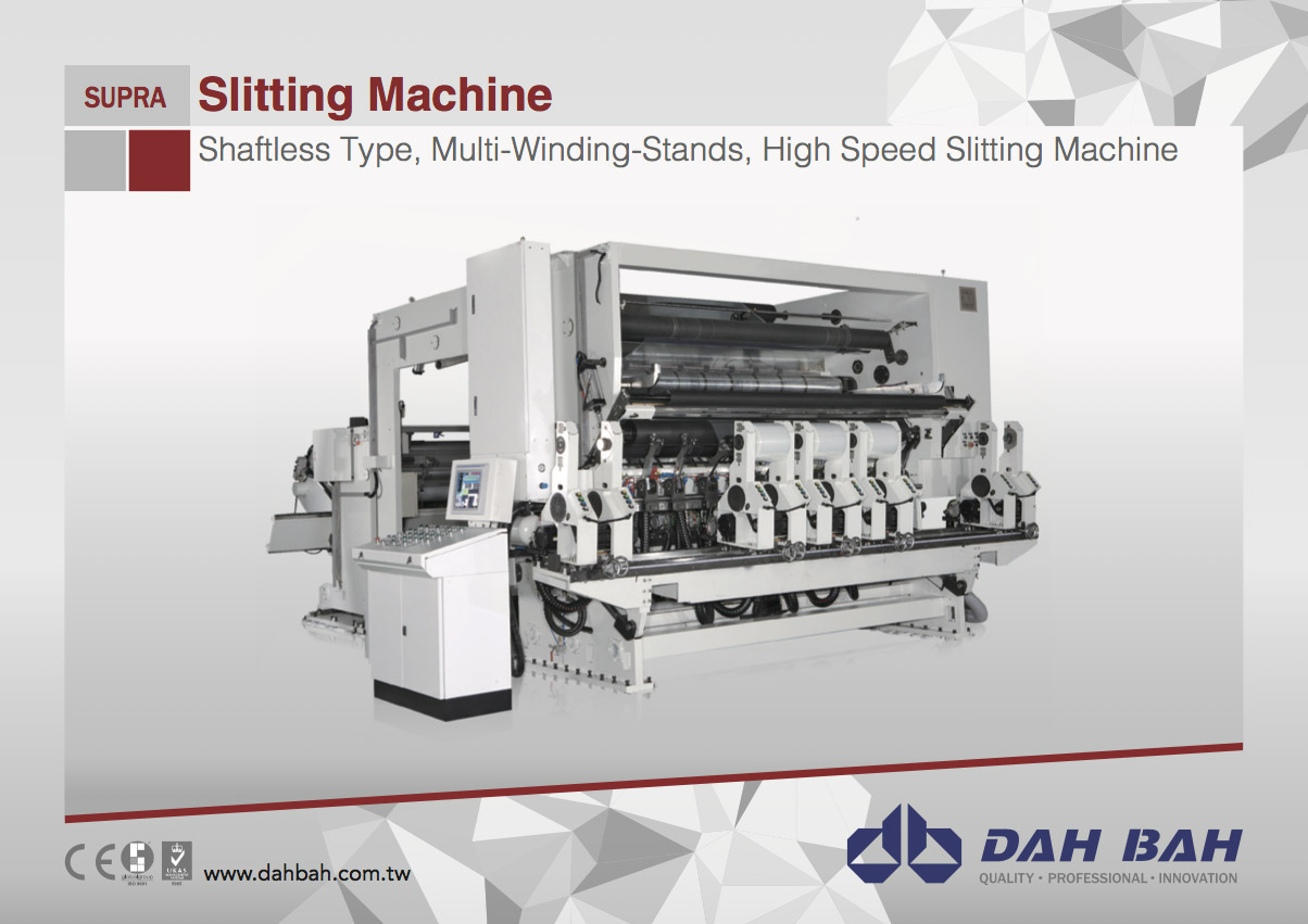 Shaftless Type, Multi-Winding-Stands, High Speed Slitting Machine - Supra Series