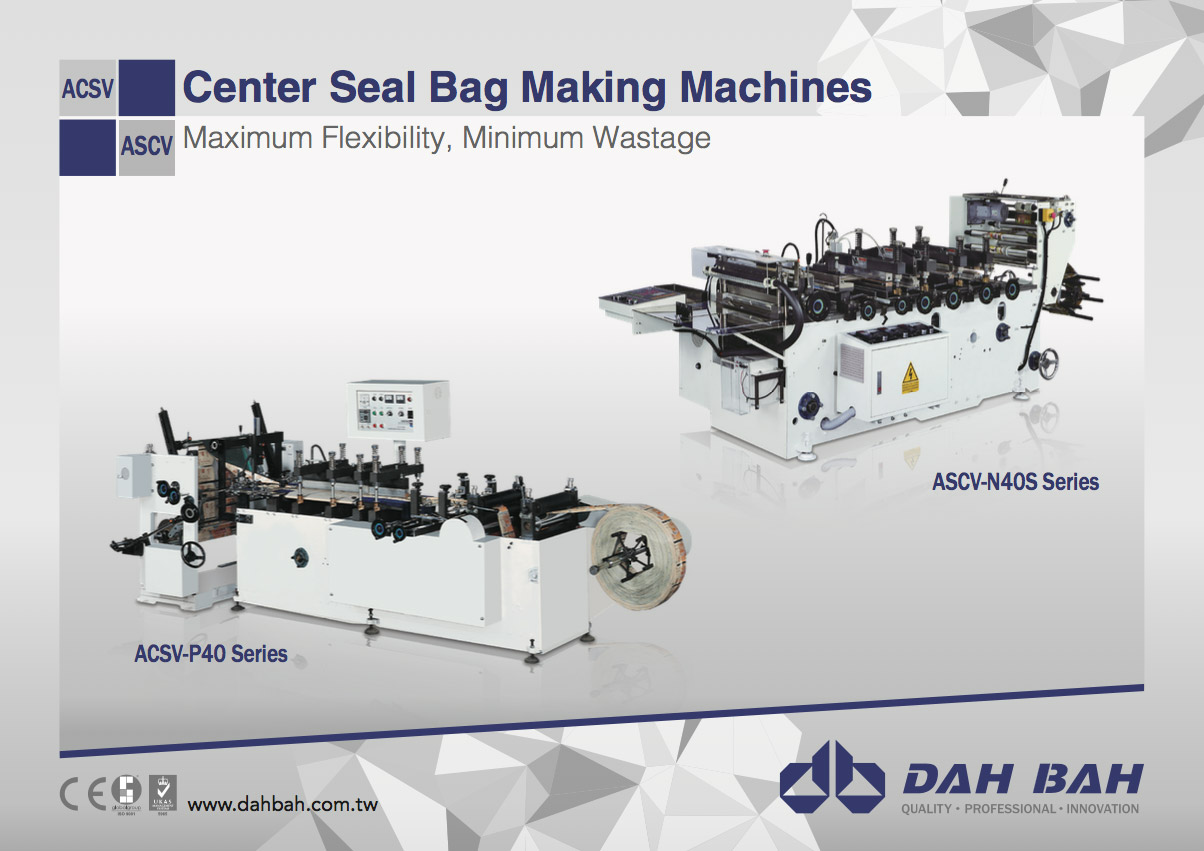 Center Seal Bag Making Machines - ACSV/ASCV Series